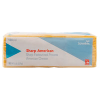 Schreiber 5 lb. Pack Pre-Sliced 120 Count Yellow Sharp American Cheese