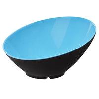 GET B-790-BL/BK Brasilia 1.9 Qt. Blue and Black Slanted Melamine Bowl - 6/Case