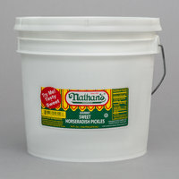 Nathan's Famous 1 Gallon Sweet Horseradish Pickle Slices
