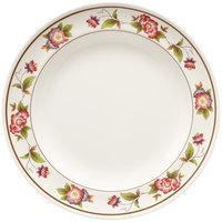 GET M-417-TR Tea Rose 14 inch Round Melamine Plate - 12/Pack