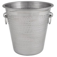 Choice 4 Qt. Hammered Stainless Steel Wine / Champagne Bucket