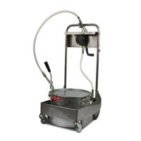 MirOil 55HS 50 lb. Fryer Oil Hand Operated 2-Way Filter Machine and Discard Trolley