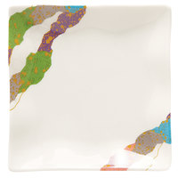 GET 252-10-CO 4 inch x 4 inch Contemporary Melamine Petite Square Plate with Wavy Edges - 24/Case