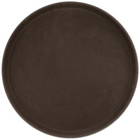 Carlisle 1400GL076 GripLite 14 inch Tan Round Non Skid Serving Tray
