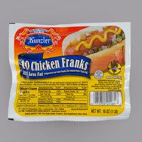 Kunzler 10 Count Pack 10/1 Size Chicken Franks   - 12/Case