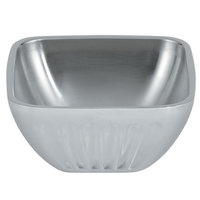 Vollrath 47681 Fluted Double Wall Square 1.8 Qt. Serving Bowl