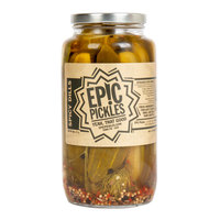 Epic Pickles 32 oz. Spicy Dill Pickle Spears   - 12/Case