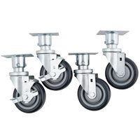 Vulcan CASTERS-PLTMNT 4 inch Adjustable Swivel Casters for VEG35, LG300, LG400, and LG500 Series   - 4/Set
