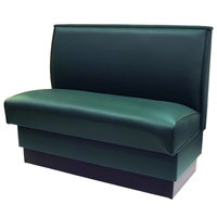American Tables & Seating QAS-42-FORESTGREEN 42 inch Forest Green Plain Single Back Fully Upholstered Booth
