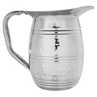 Choice 2 Qt. Hammered Stainless Steel Bell Pitcher with Ice Guard