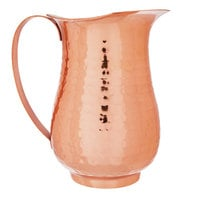 Choice 2 Qt. Hammered Copper Stainless Steel Slender Bell Pitcher
