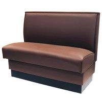 American Tables & Seating QAS-42-MOCHA 42 inch Mocha Plain Single Back Fully Upholstered Booth