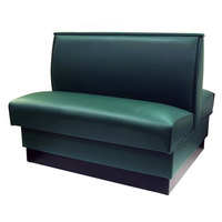 American Tables & Seating QAD-42-FORESTGREEN 42 inch Forest Green Plain Double Back Fully Upholstered Booth