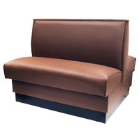American Tables & Seating QAD-36-MOCHA 36 inch Mocha Plain Double Back Fully Upholstered Booth