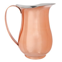 Choice 2 Qt. Satin Copper Stainless Steel Slender Bell Pitcher