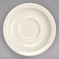 Homer Laughlin 28300 5 1/2 inch Ivory (American White) Narrow Rim China Texas Saucer - 36/Case