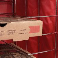 Metal racks for food delivery bags
