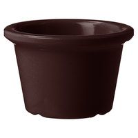 GET S-610-BR 1.5 oz. Brown Smooth Melamine Ramekin - 72/Case