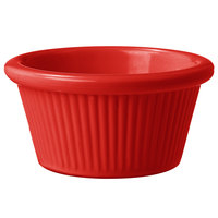 GET RM-387-R 2 oz. Red Fluted Melamine Ramekin - 48/Case