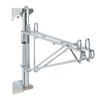Metro AW51C Super Erecta Chrome Single Level Post-Type Wall Mount Mid Unit for 24 inch Deep Shelf
