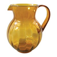 GET P-4090 90 oz. Amber Customizable Tahiti Pitcher - 12/Pack