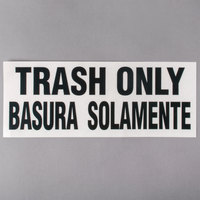 Rubbermaid FGCL3 10 inch x 4 inch Bilingual Trash Only Label