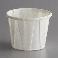 Genpak F050 Harvest Paper .5 oz. Compostable Souffle / Portion Cup - 250/Pack