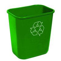 Continental 4114-2 41.25 Qt. / 10 Gallon Green Rectangular Recycling Wastebasket / Trash Can