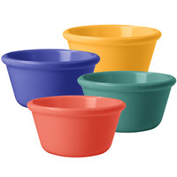 GET RM-388-MIX 3 oz. Assorted Colors Smooth Melamine Ramekin   - 48/Case