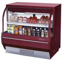Turbo Air TCDD-48-2-L 48 inch Red Low Profile Curved Glass Refrigerated Deli Case