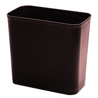 Continental 2927BN 28 Qt. Brown Rectangular Fire Resistant Medical Wastebasket