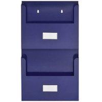 MMF Industries 27120008 Steelmaster Blue Two Pocket Organizer