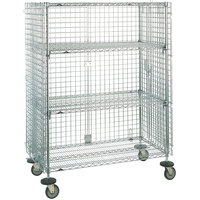 Metro SEC35ECQ QwikSLOT Mobile Standard Duty Wire Security Cabinet 53 inch x 22 inch x 68 inch