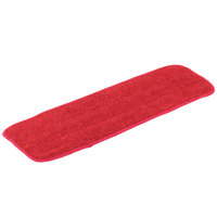 Knuckle Buster DMFM18RD 18 inch Red Microfiber Wet Velcro® Flat Mop Pad