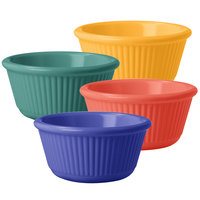 GET RM-389-MIX 3 oz. Assorted Colors Fluted Melamine Ramekin   - 48/Case