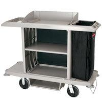 Rubbermaid 1969596 Executive Platinum Full Size Housekeeping Cart