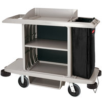 Rubbermaid 1969596 Executive Platinum Full Size Housekeeping Cart