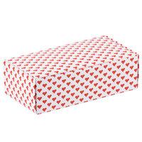 5 1/2 inch x 2 3/4 inch x 1 3/4 inch 1-Piece 1/2 lb. Valentine's Day Heart Candy Box   - 250/Case