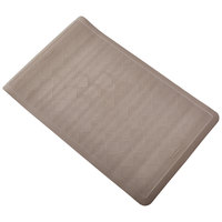 Rubbermaid 1982721 Safti-Grip 22 1/2 inch x 14 inch Brown Stone Rubber Bath Mat