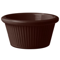 GET RM-387-BR 2 oz. Brown Fluted Melamine Ramekin - 48/Case