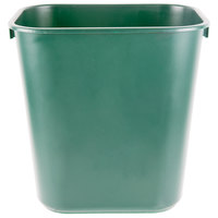 Rubbermaid 1829412 13 Qt. Green Rectangular Wastebasket / Trash Can