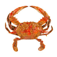 Linton's Seafood 5 1/4 inch Heavily Seasoned Steamed Medium Maryland Blue Crabs - 12/Case