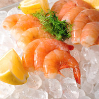 Linton's Seafood 1 lb. Wild-Caught Shell-On Raw Gulf X-Large Shrimp