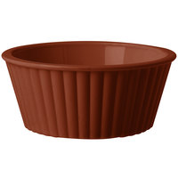 GET ER-404-BR 4 oz. Brown Fluted SAN Plastic Ramekin - 48/Case