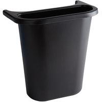 Rubbermaid FG295073BLA 13.62 Qt. / 3.41 Gallon Black Wastebasket Side Bin