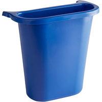 Rubbermaid FG295073BLUE 13.62 Qt. / 3.41 Gallon Blue Wastebasket Side Bin