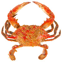 Linton's Seafood 5 3/4 inch Heavily Seasoned Steamed Large Maryland Blue Crabs - 12/Case