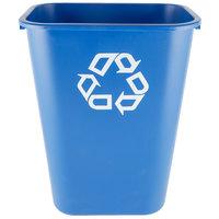 Rubbermaid FG295773BLUE 41 Qt. Blue Recycling Rectangular Wastebasket