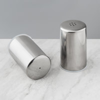 American Metalcraft SSP2 2 oz. Brushed Stainless Steel Salt and Pepper Shaker Set