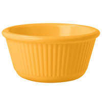 GET RM-389-TY 3 oz. Tropical Yellow Fluted Melamine Ramekin - 48/Case